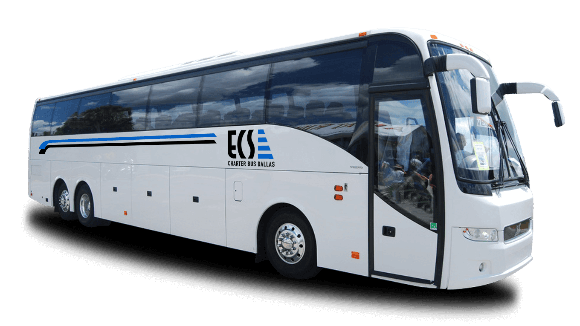 a bus from ECS Charter Bus Dallas